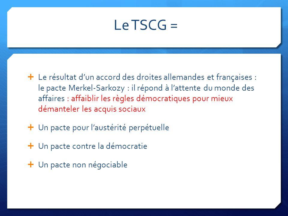 Le TSCG =