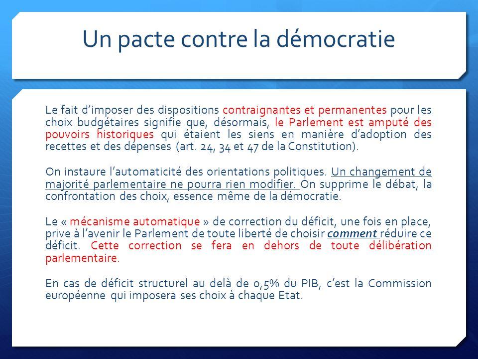 Un pacte contre la démocratie