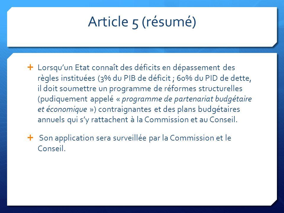 Article 5 (résumé)