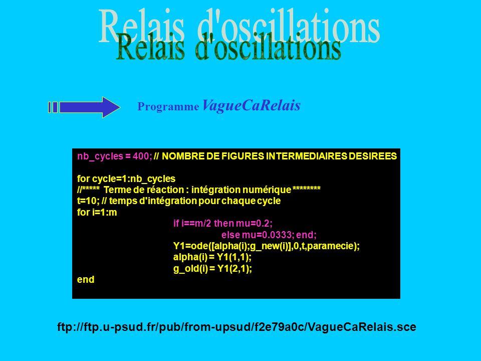 Relais d oscillations Programme VagueCaRelais