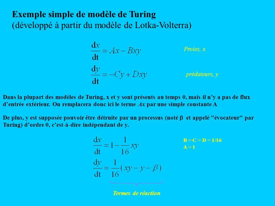 Exemple simple de modèle de Turing