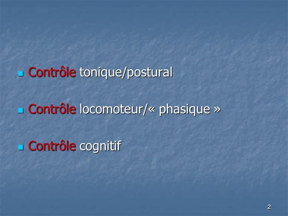 Contrôle tonique/postural