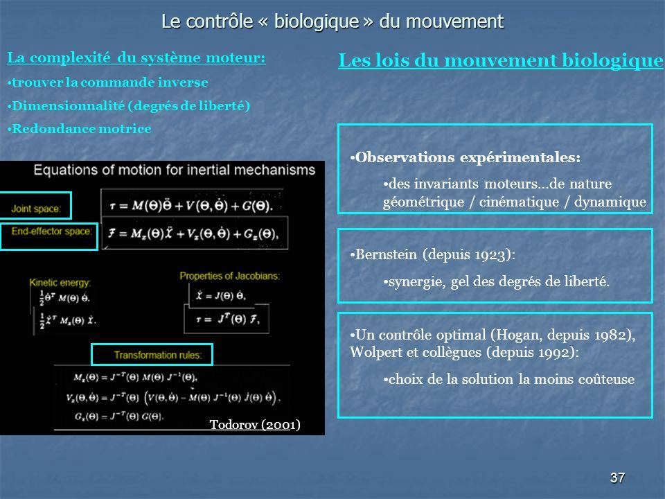 Le contrôle « biologique » du mouvement