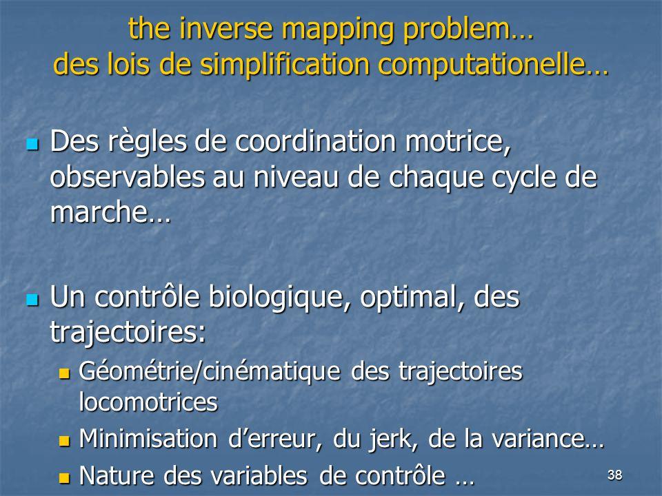 Un contrôle biologique, optimal, des trajectoires: