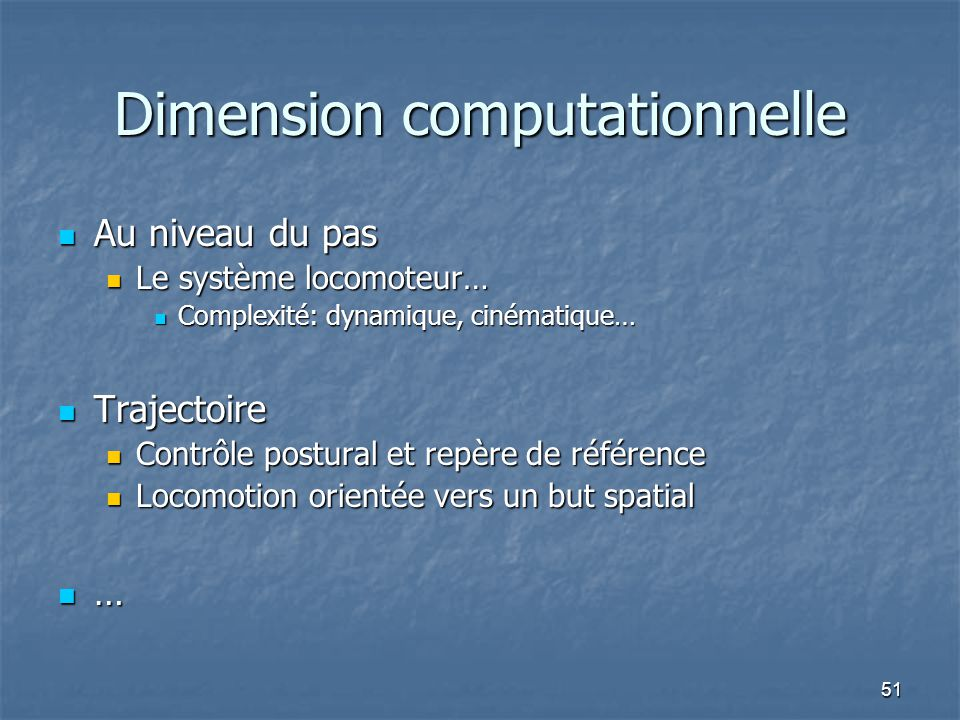 Dimension computationnelle