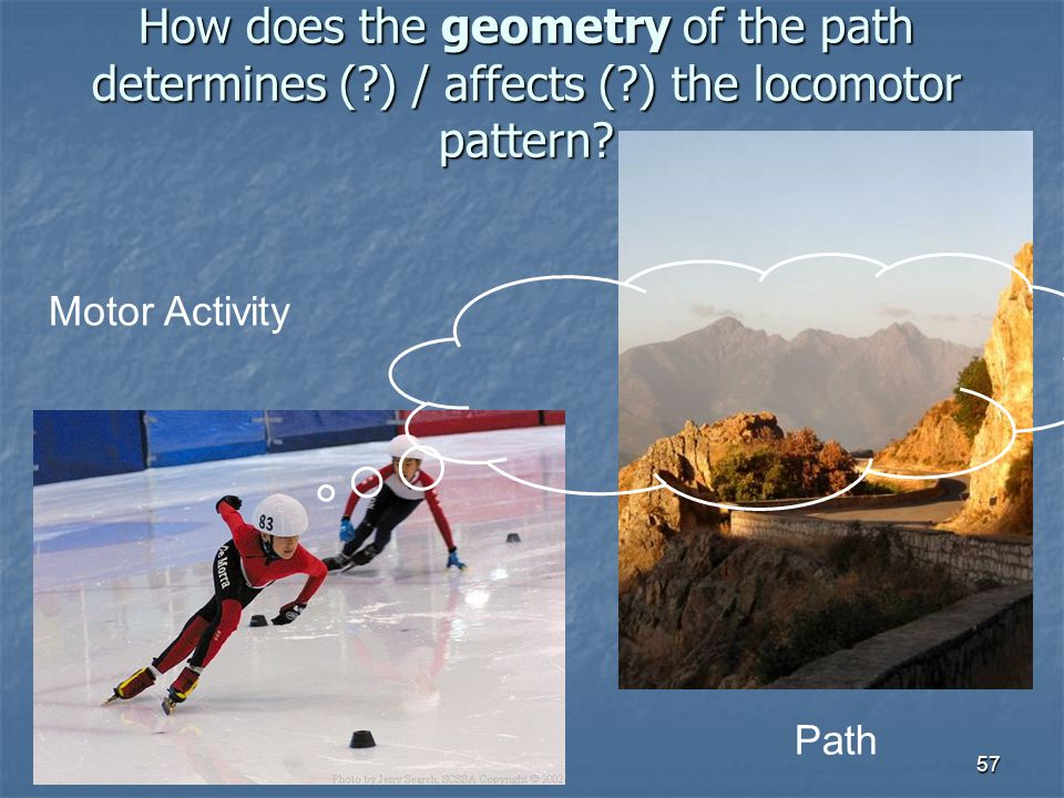 How does the geometry of the path determines (. ) / affects (