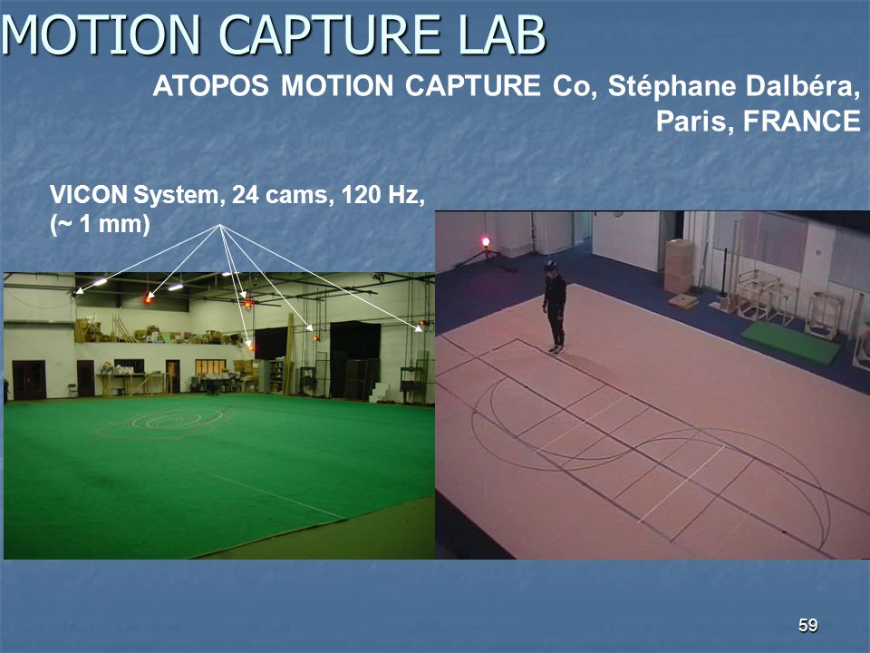 MOTION CAPTURE LAB ATOPOS MOTION CAPTURE Co, Stéphane Dalbéra, Paris, FRANCE.