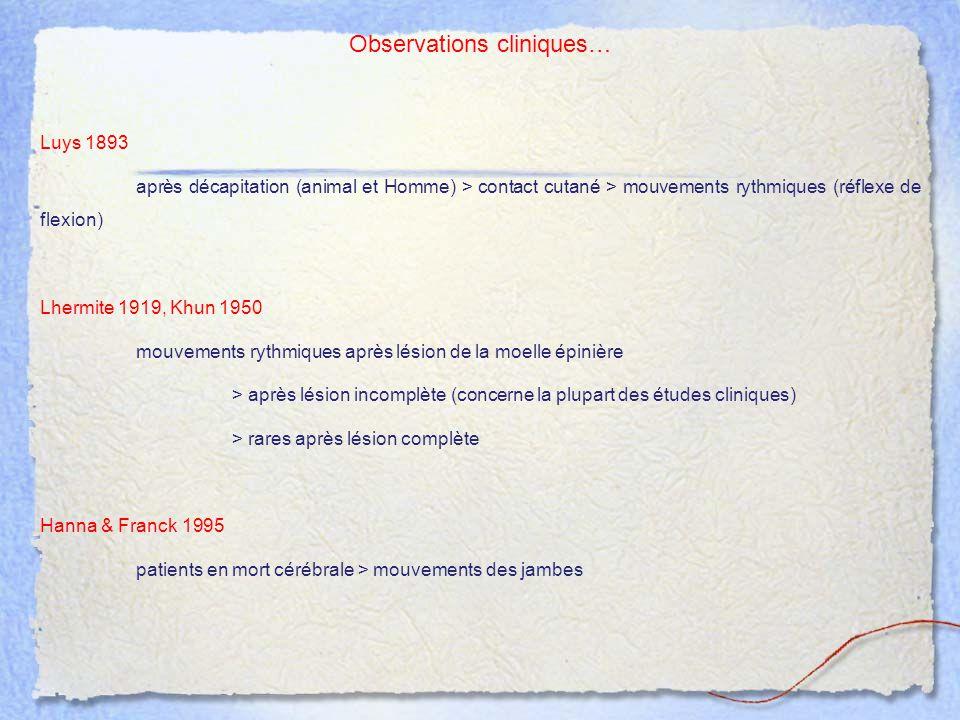 Observations cliniques…