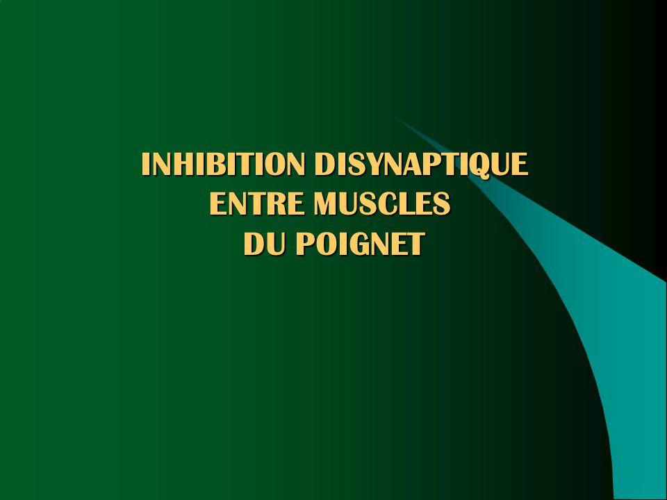 INHIBITION DISYNAPTIQUE
