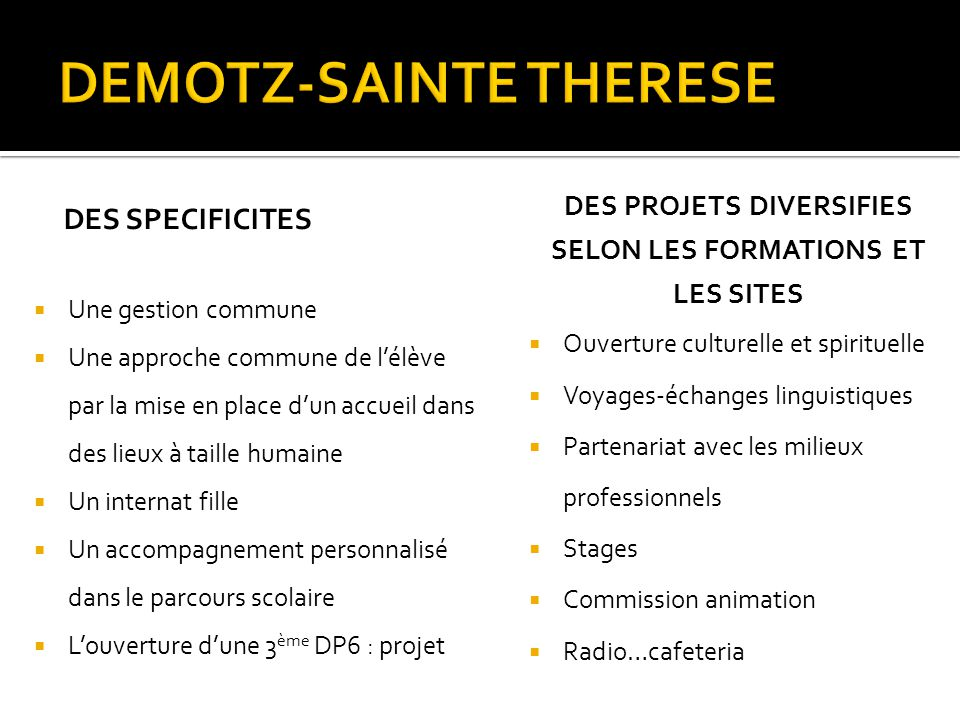 DEMOTZ-SAINTE THERESE