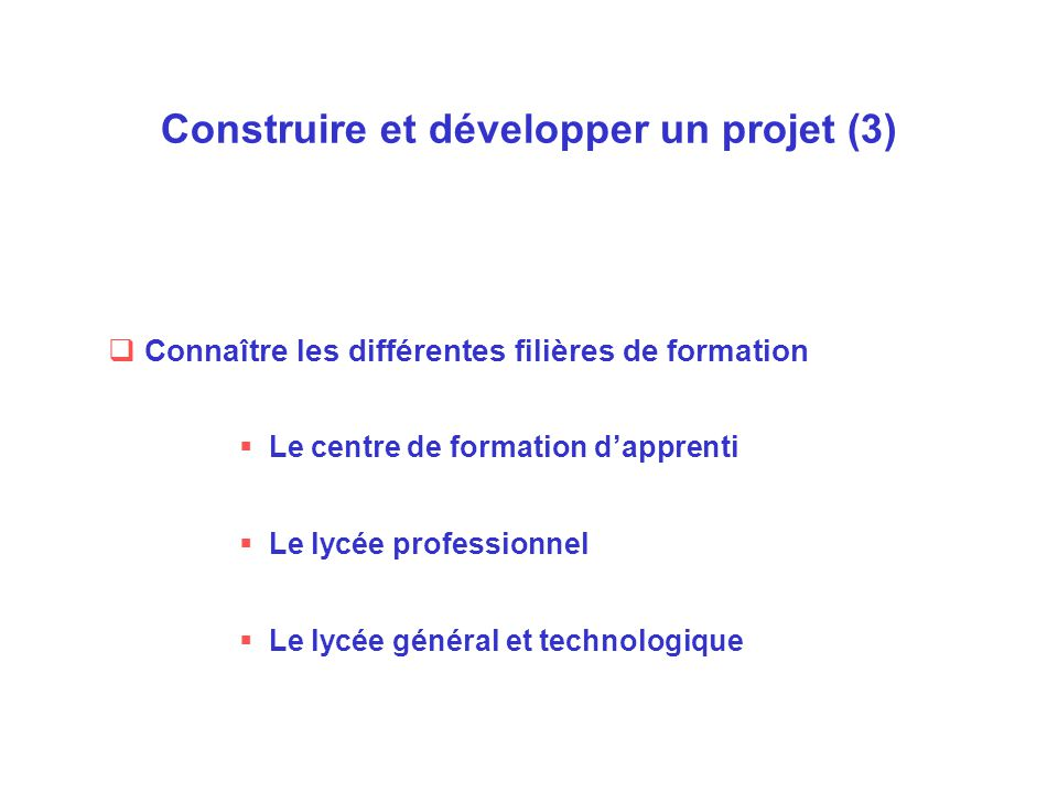 Construire et développer un projet (3)