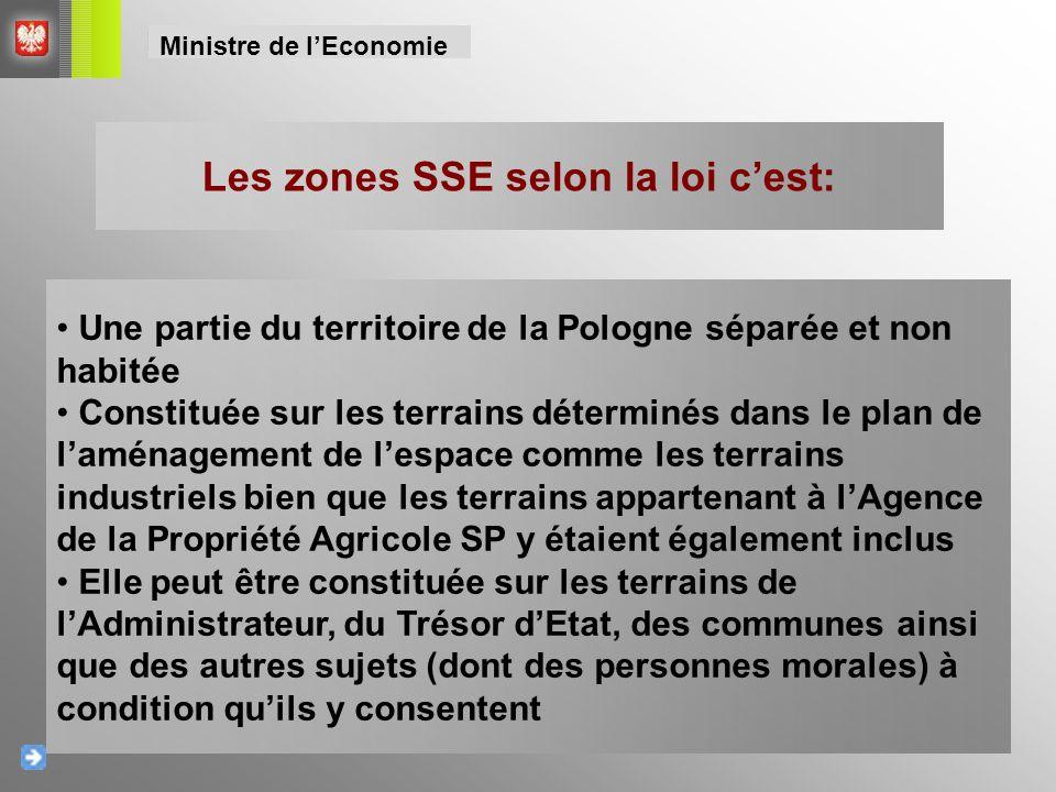 Les zones SSE selon la loi c'est: