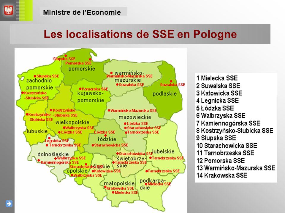 Les localisations de SSE en Pologne