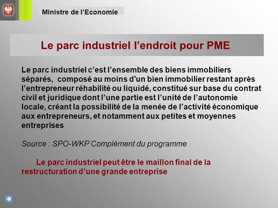 Le parc industriel l'endroit pour PME