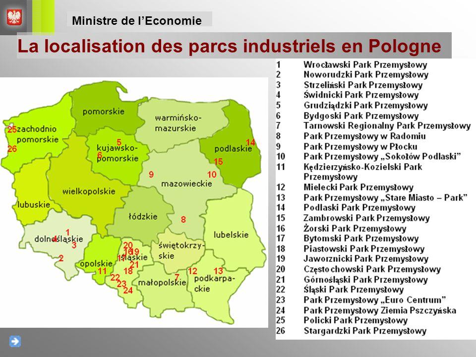 La localisation des parcs industriels en Pologne