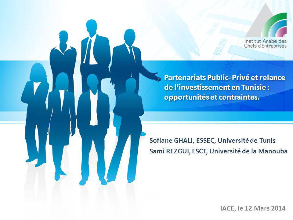 Partenariats Public- Privé et relance de l'investissement en Tunisie : opportunités et contraintes.