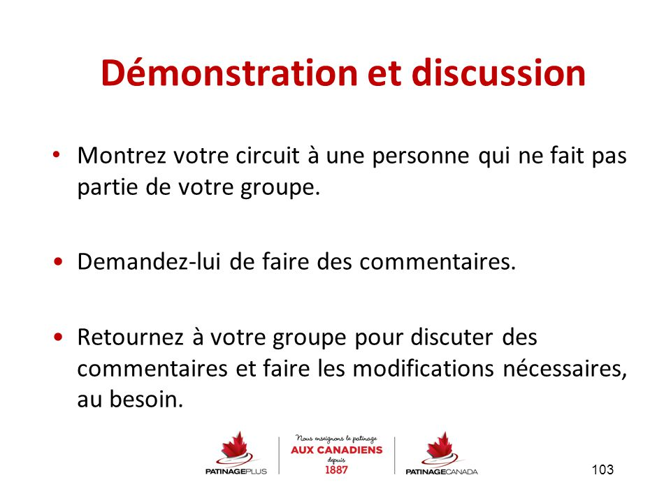 Démonstration et discussion