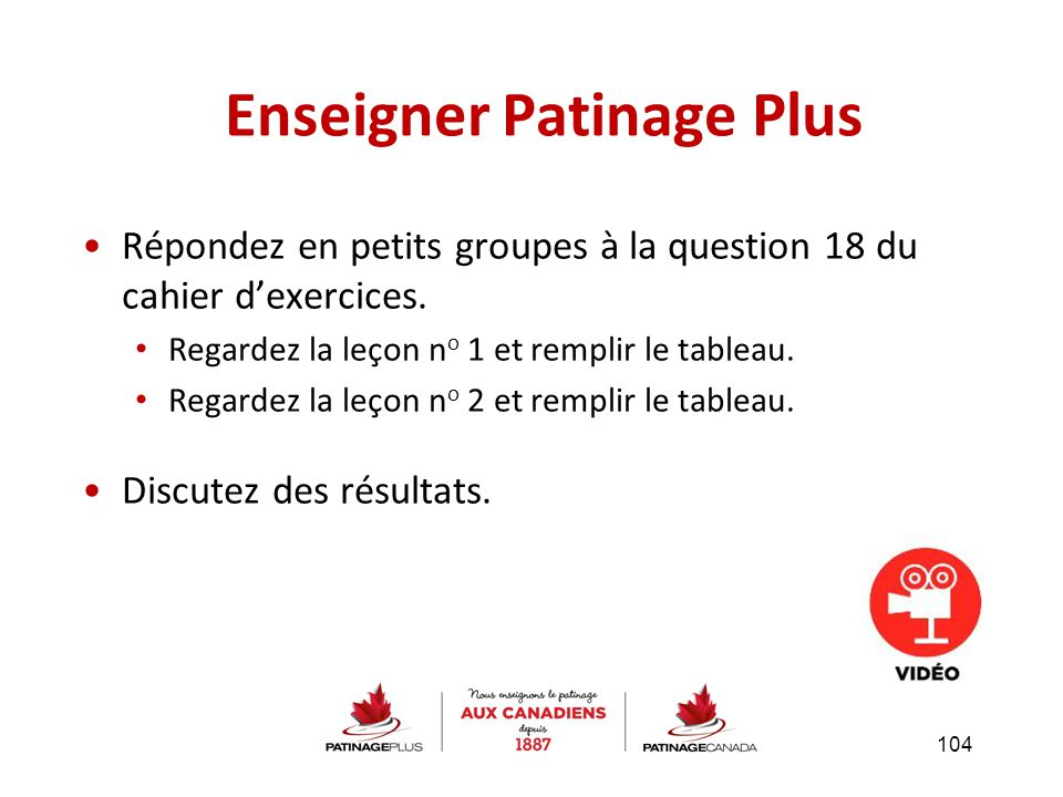 Enseigner Patinage Plus