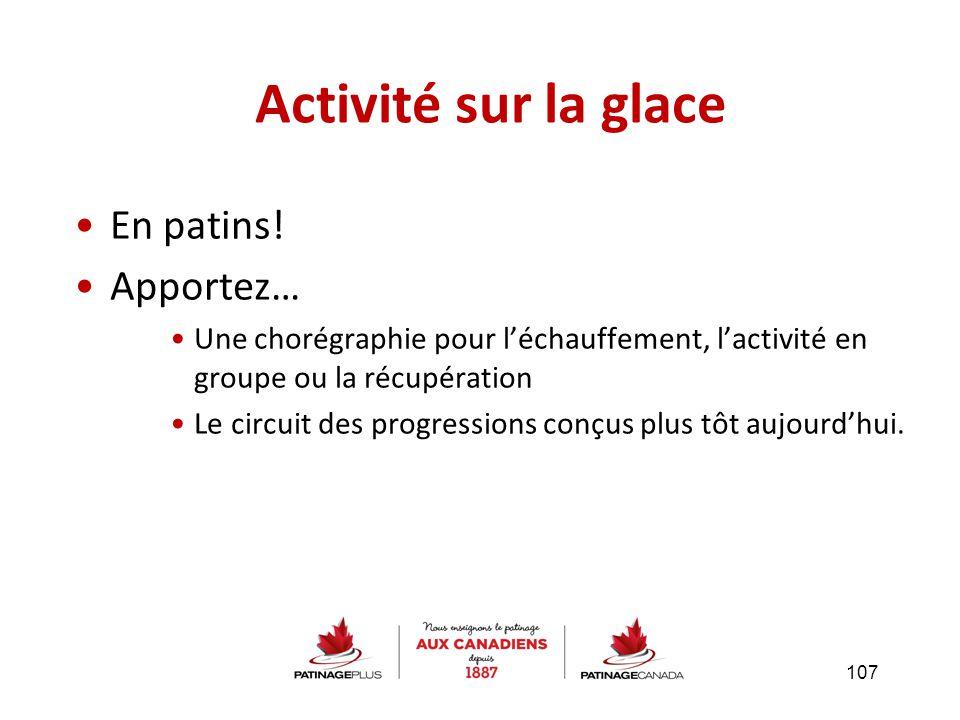 Activité sur la glace En patins! Apportez…
