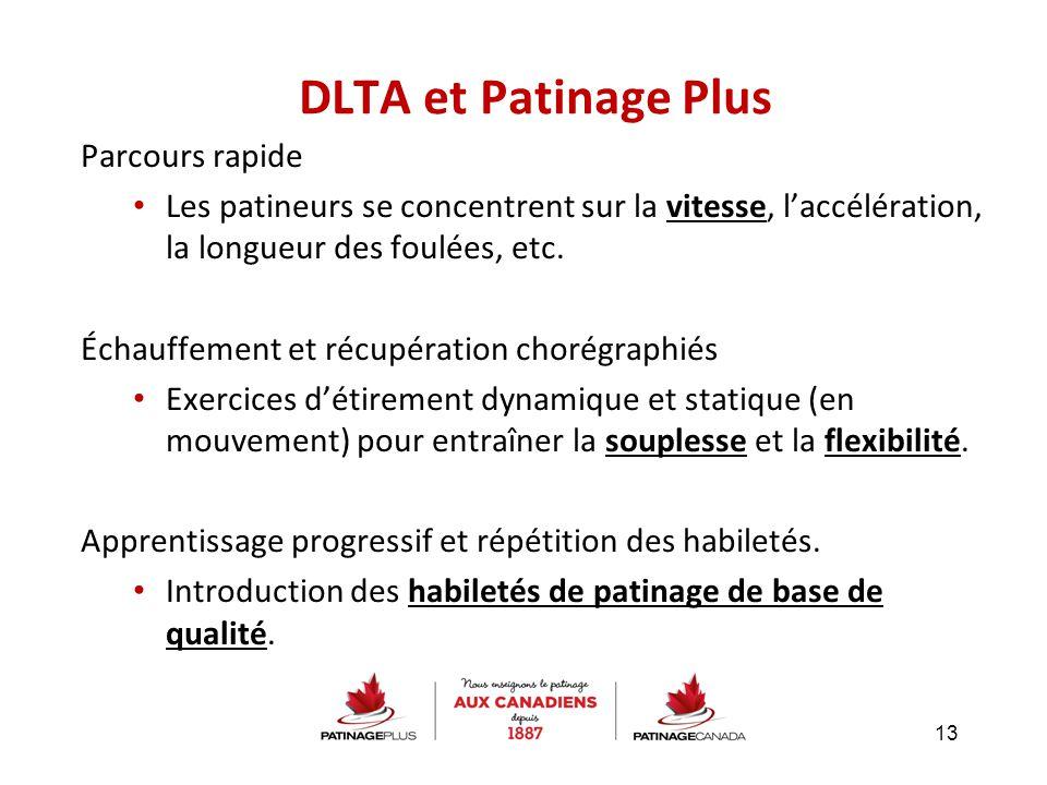 DLTA et Patinage Plus Parcours rapide