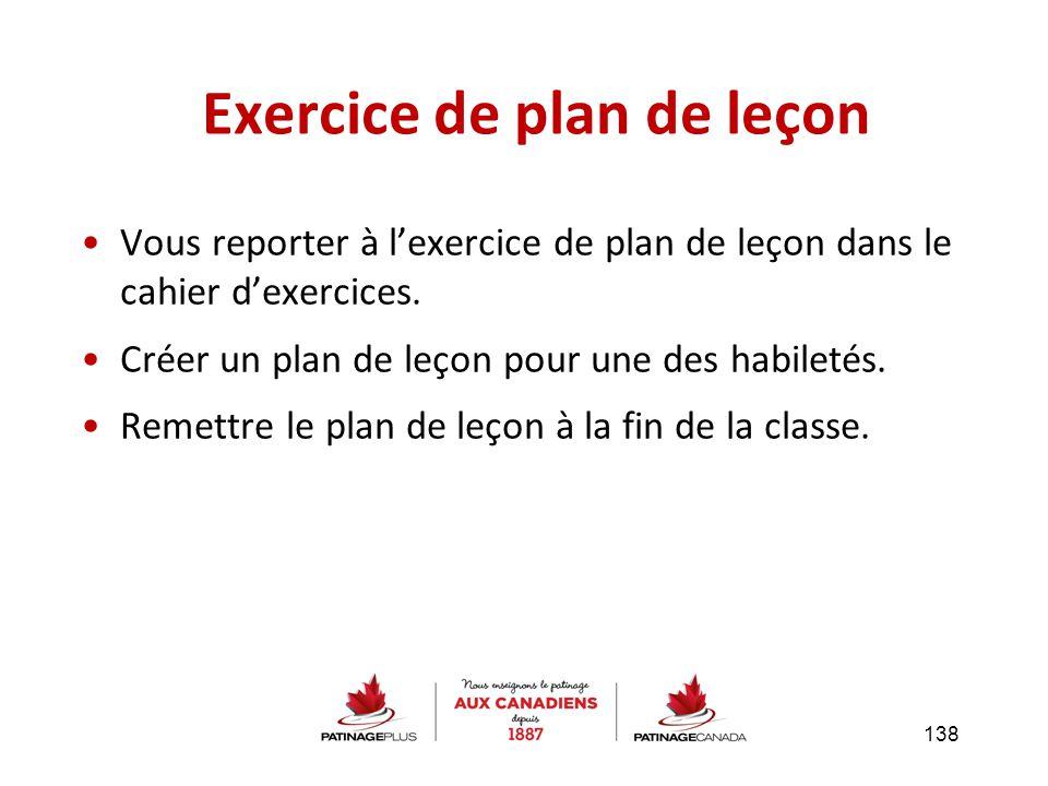 Exercice de plan de leçon