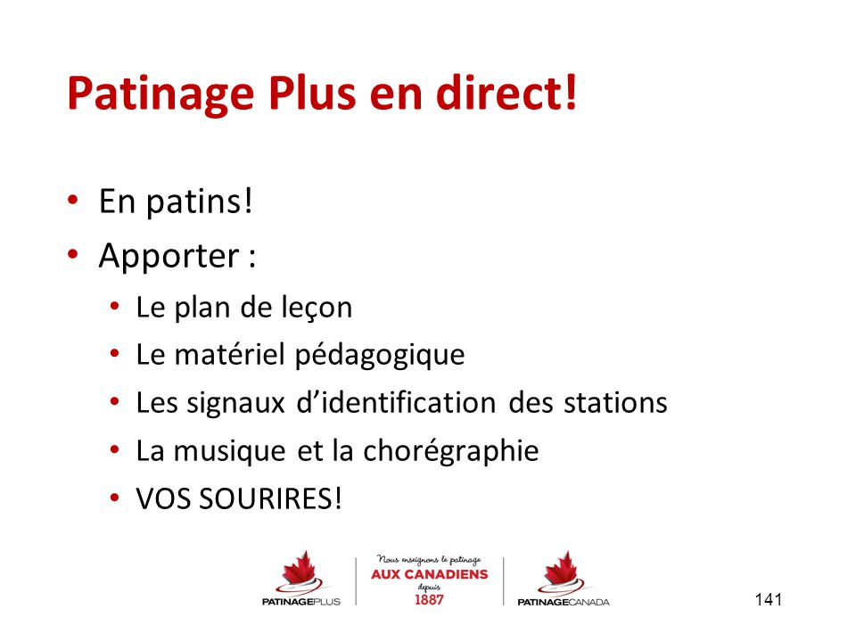 Patinage Plus en direct!