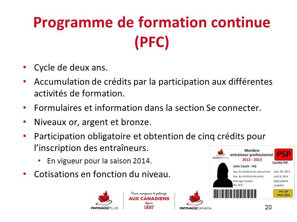 Programme de formation continue (PFC)