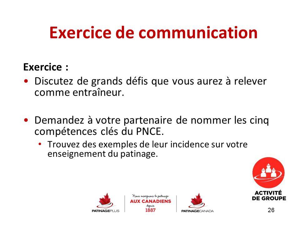 Exercice de communication