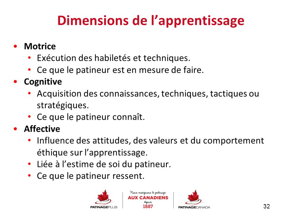 Dimensions de l'apprentissage