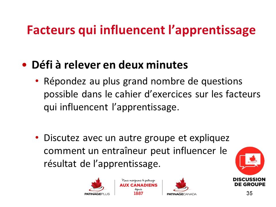 Facteurs qui influencent l'apprentissage