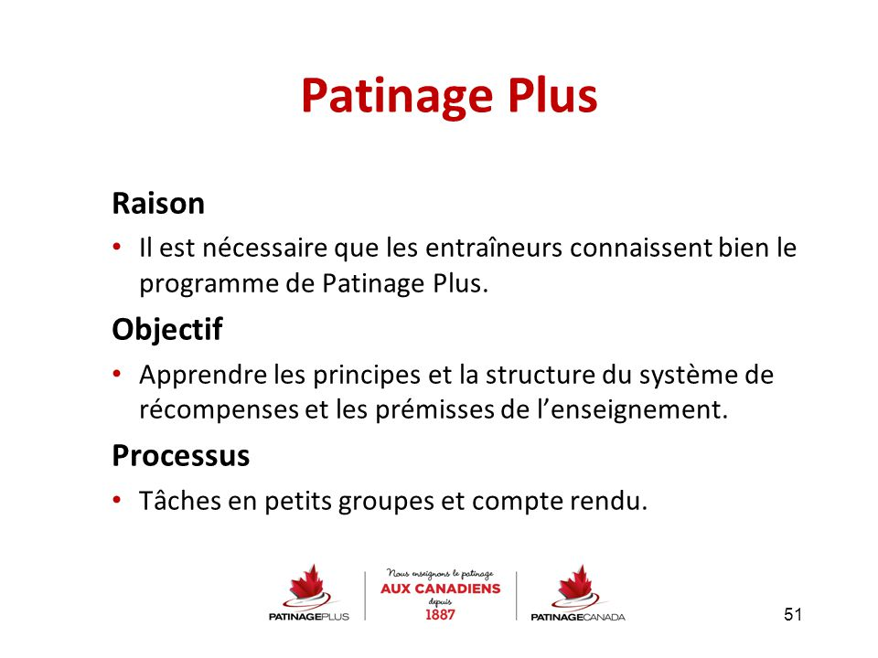 Patinage Plus Raison Objectif Processus