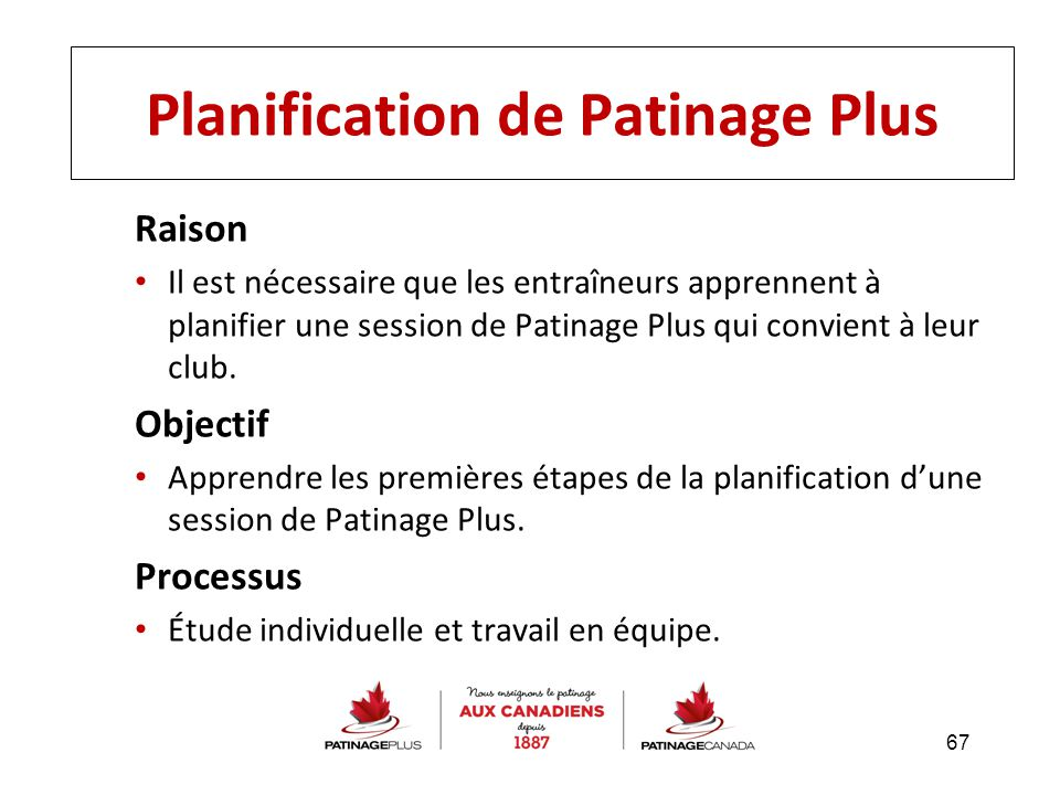 Planification de Patinage Plus