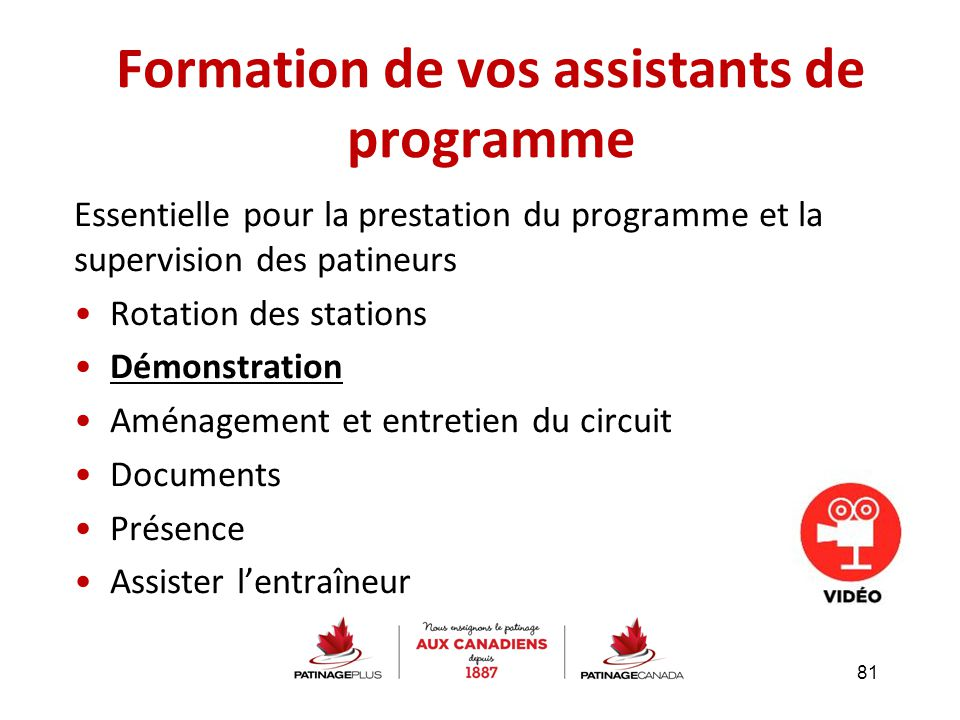 Formation de vos assistants de programme