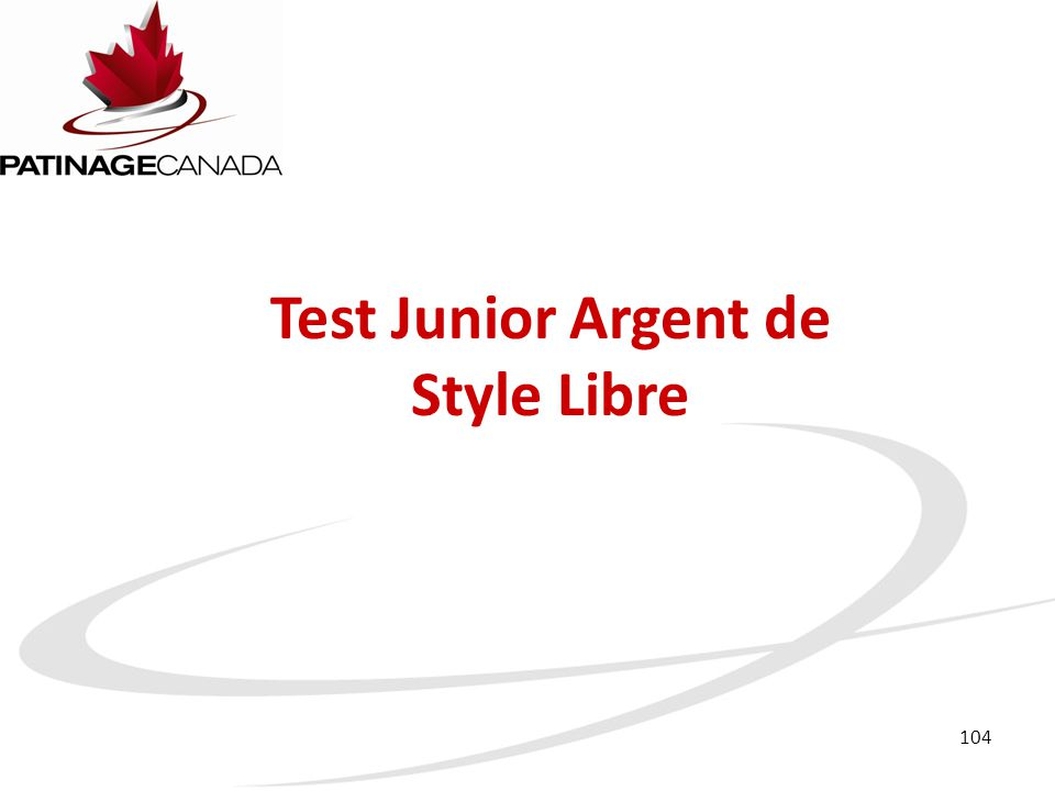 Test Junior Argent de Style Libre