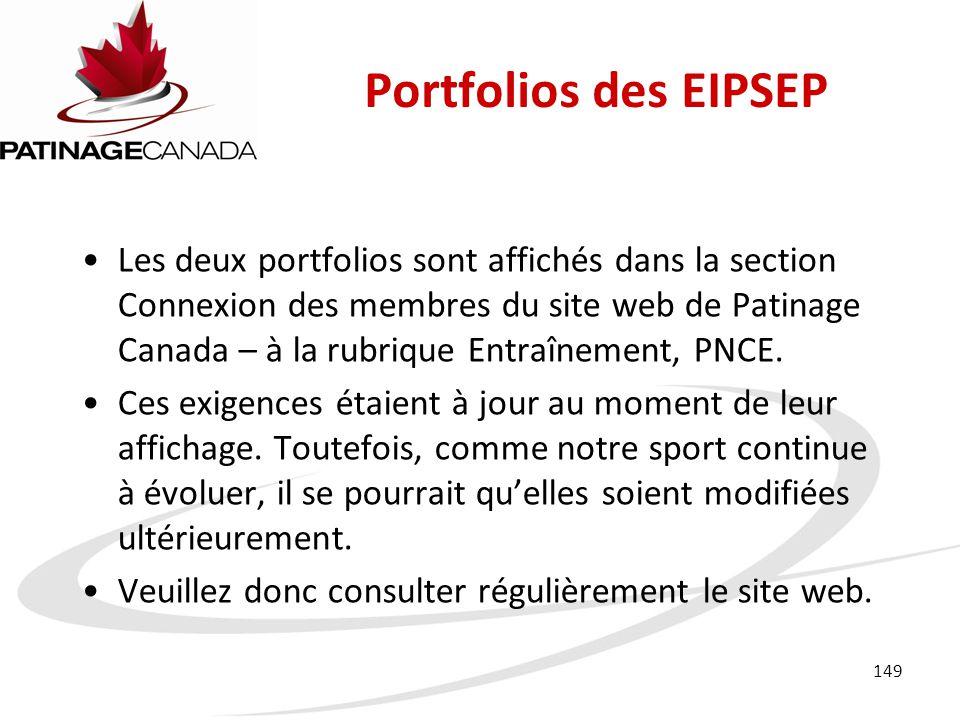 Portfolios des EIPSEP