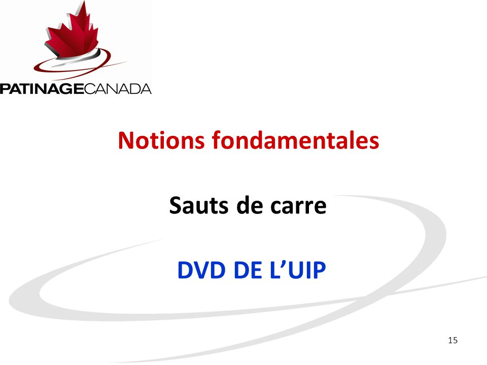 Notions fondamentales Sauts de carre DVD DE L'UIP