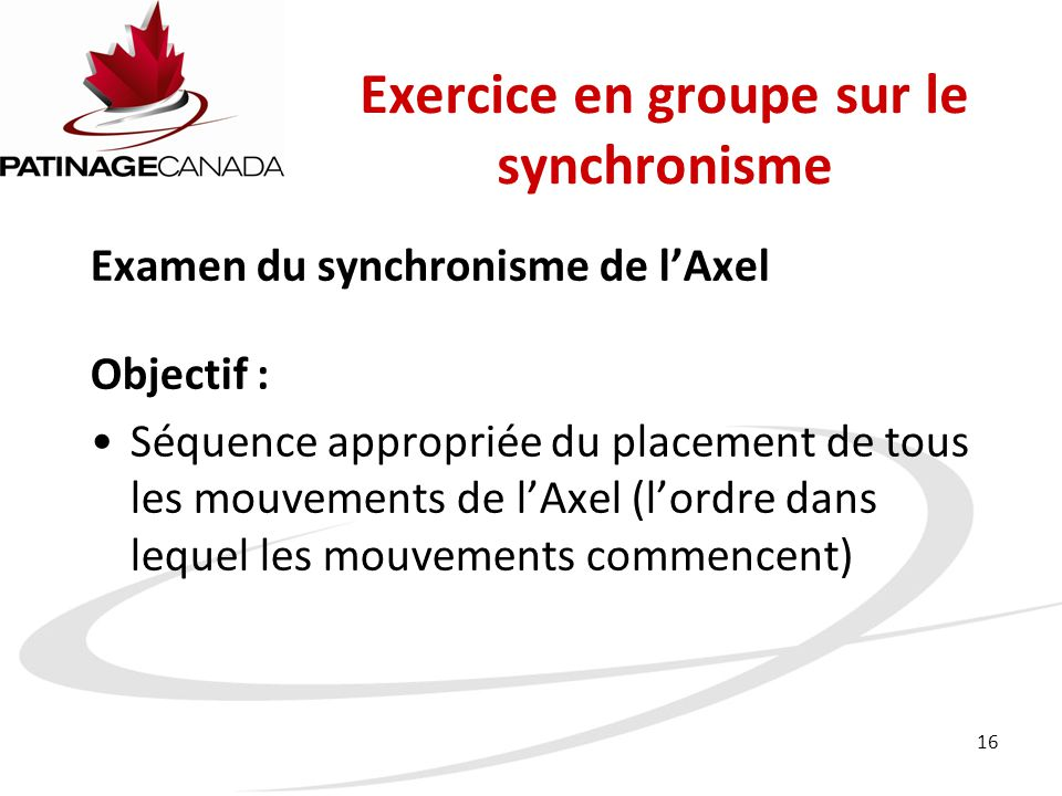 Exercice en groupe sur le synchronisme