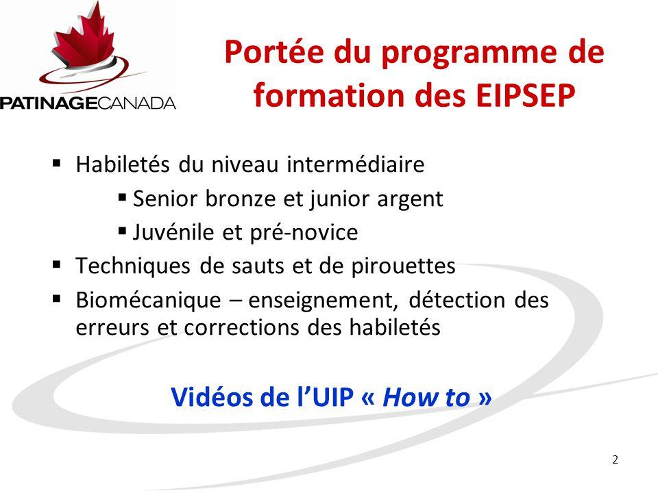 Portée du programme de formation des EIPSEP