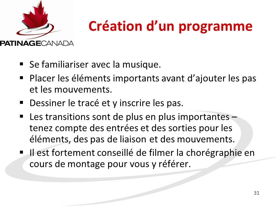 Création d'un programme