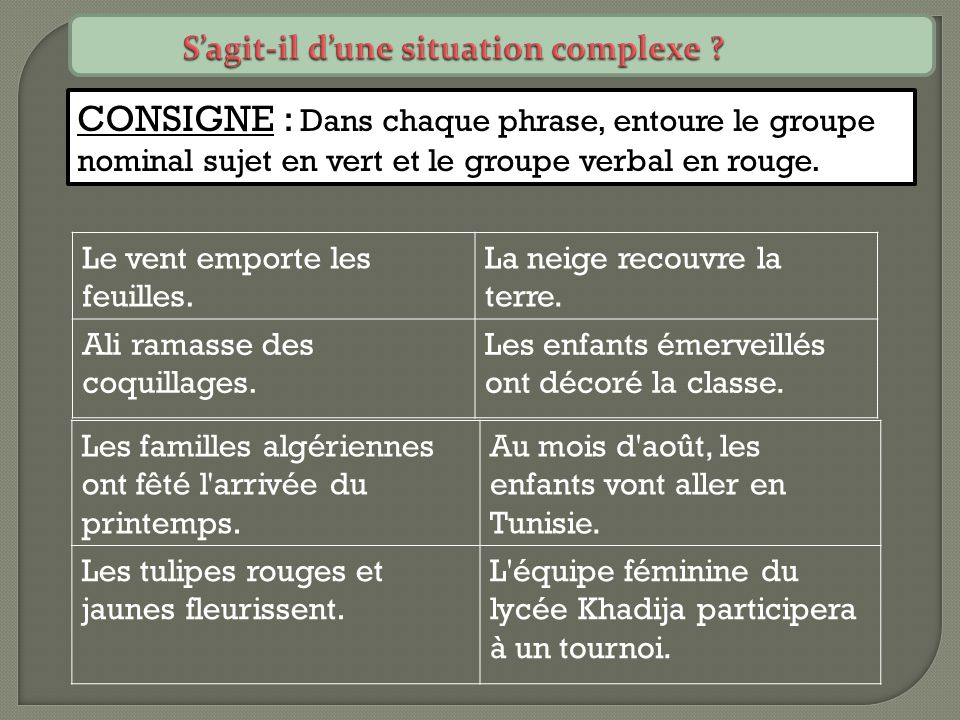 S'agit-il d'une situation complexe