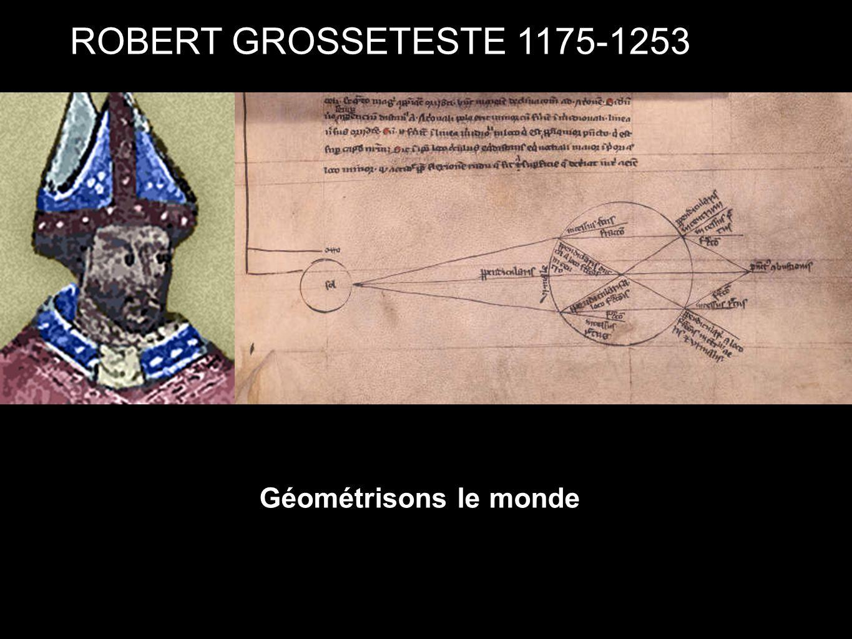 ROBERT GROSSETESTE 1175-1253 Géométrisons le monde
