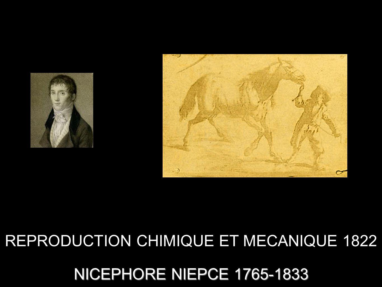 REPRODUCTION CHIMIQUE ET MECANIQUE 1822