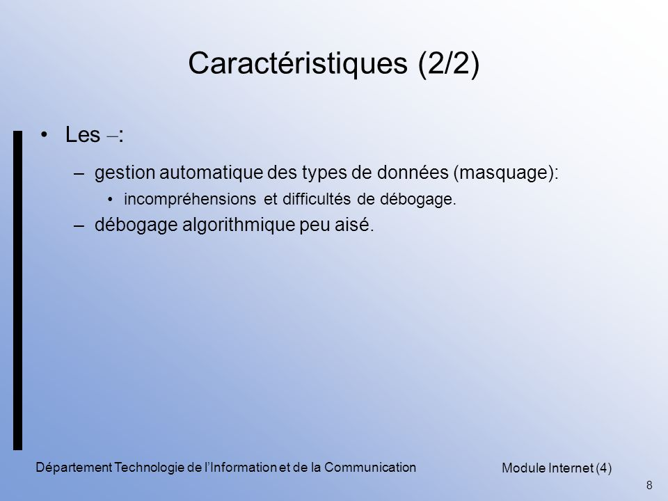 Département Technologie de l'Information et de la Communication