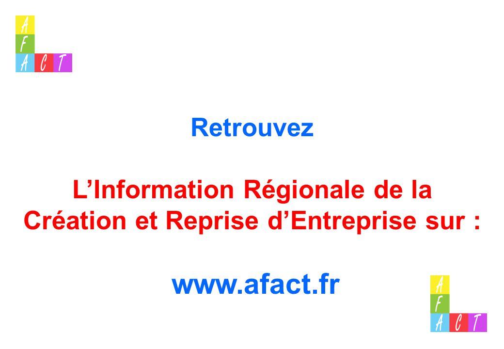 L'Information Régionale de la Création et Reprise d'Entreprise sur :
