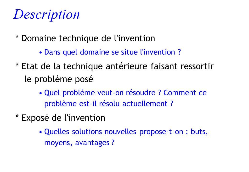 Description * Domaine technique de l invention