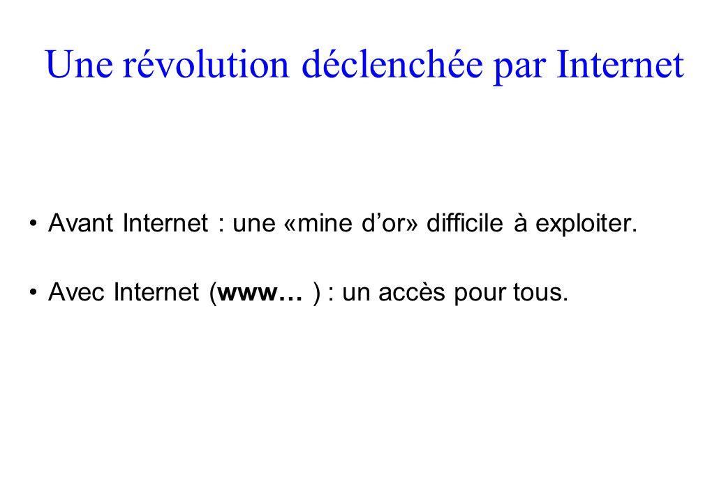 Une révolution déclenchée par Internet