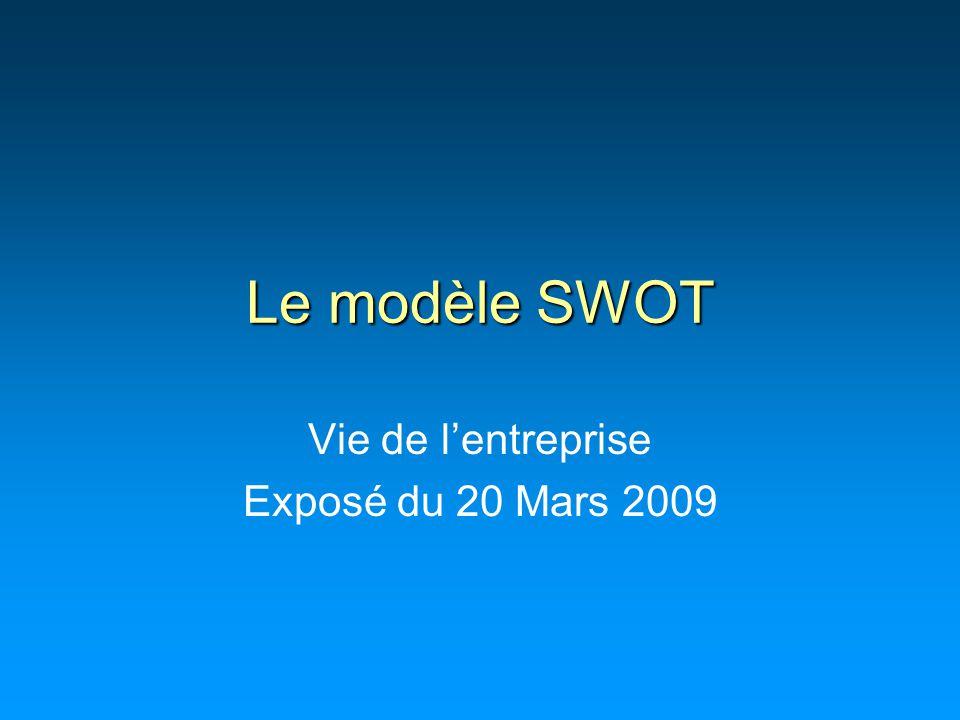 Vie de l'entreprise Exposé du 20 Mars 2009