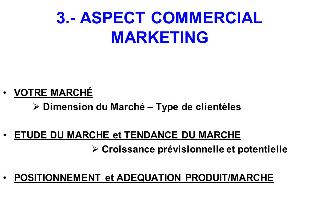 3.- ASPECT COMMERCIAL MARKETING