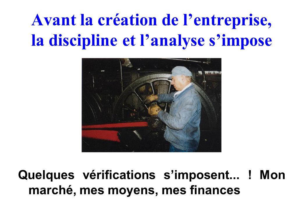 Avant la création de l'entreprise, la discipline et l'analyse s'impose
