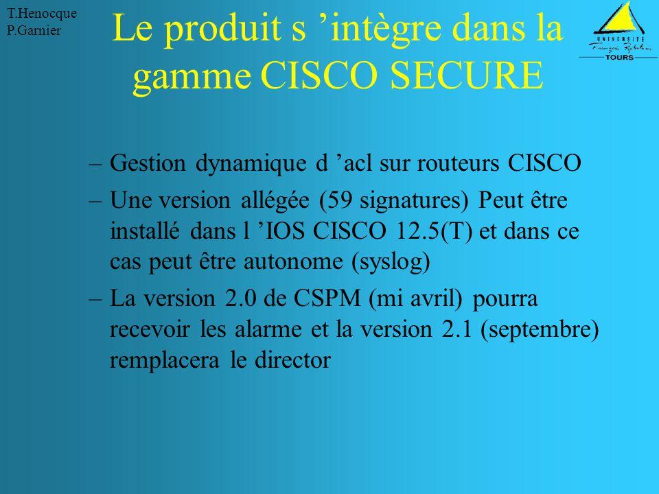 Le produit s 'intègre dans la gamme CISCO SECURE